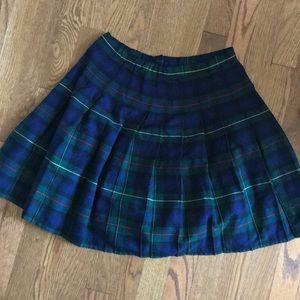 Lands End Girls pleated school girl skirt